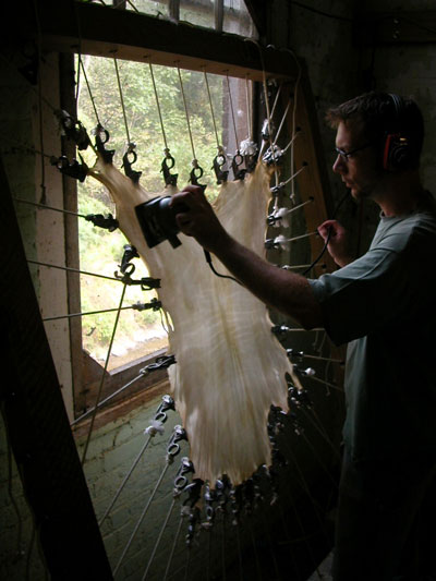Jesse Meyer sanding vellum