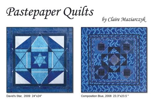 pastepaper quilts