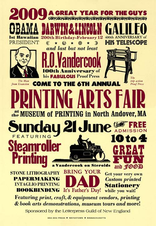 printing arts fair poster